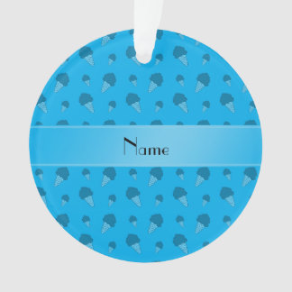 Personalized name sky blue ice cream pattern