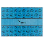 Personalized name sky blue justice scales cutting board