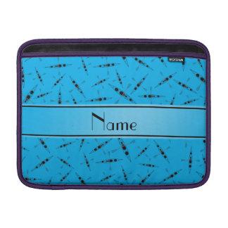 Personalized name sky blue kayaks MacBook sleeves