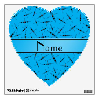 Personalized name sky blue kayaks wall skins