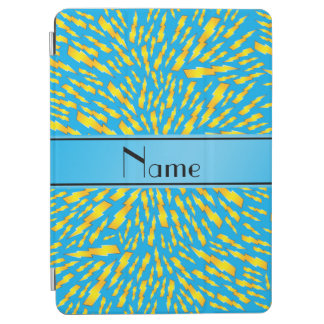 Personalized name sky blue lightning bolts iPad air cover