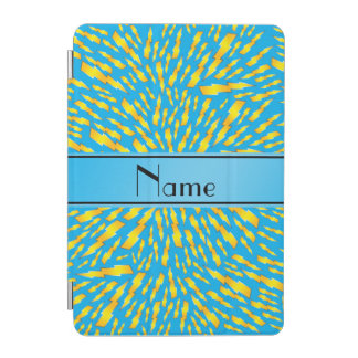 Personalized name sky blue lightning bolts iPad mini cover
