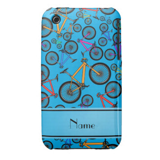 Personalized name sky blue mountain bikes iPhone 3 case