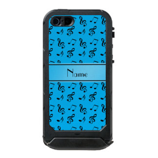 Personalized name sky blue music notes incipio ATLAS ID™ iPhone 5 case