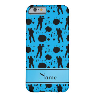 Personalized name sky blue paintball pattern barely there iPhone 6 case