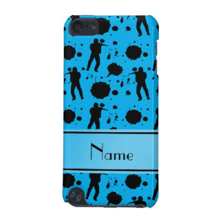 Personalized name sky blue paintball pattern iPod touch (5th generation) case
