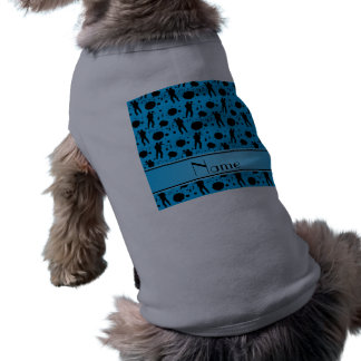 Personalized name sky blue paintball pattern pet shirt