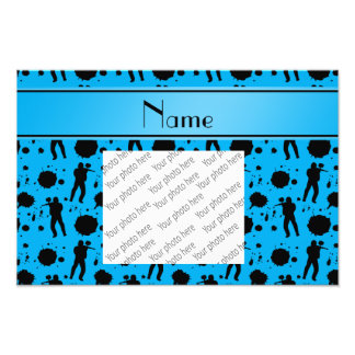 Personalized name sky blue paintball pattern photo print