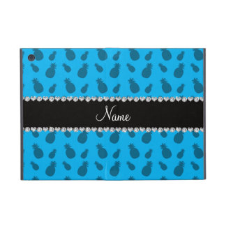 Personalized name sky blue pineapple pattern cases for iPad mini