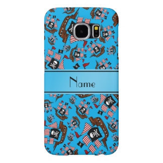Personalized name sky blue pirate ships samsung galaxy s6 cases