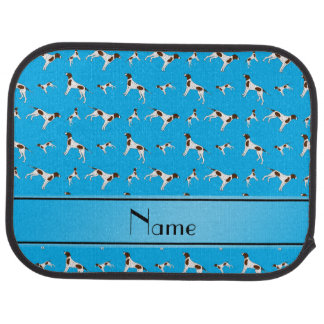 Personalized name sky blue Pointer dogs Car Mat