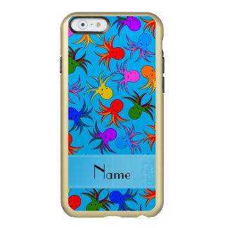 Personalized name sky blue rainbow octopus incipio feather shine iPhone 6 case
