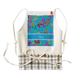 Personalized name sky blue rainbow sandals zazzle HEART apron