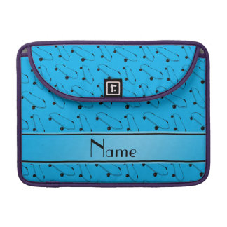 Personalized name sky blue skateboard pattern sleeves for MacBook pro