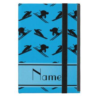 Personalized name sky blue ski pattern iPad mini covers