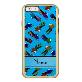 Personalized name sky blue snowmobiles incipio feather® shine iPhone 6 case