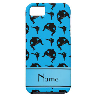 Personalized name sky blue sumo wrestling iPhone SE/5/5s case