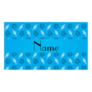 Personalized name sky blue surfboard pattern Double-Sided standard business cards (Pack of 100)