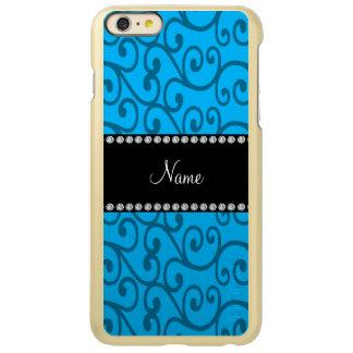 Personalized name sky blue swirls incipio feather® shine iPhone 6 plus case