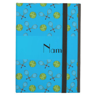Personalized name sky blue tennis balls iPad air case