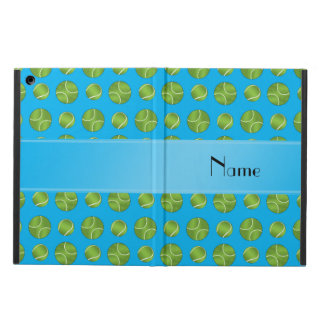 Personalized name sky blue tennis balls pattern cover for iPad air