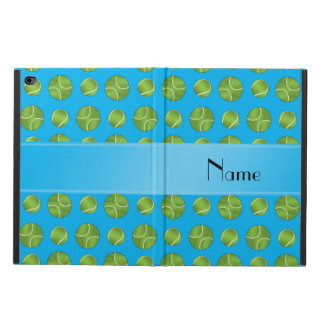 Personalized name sky blue tennis balls pattern powis iPad air 2 case