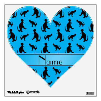 Personalized name sky blue trex dinosaurs wall skin