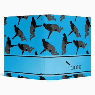 Personalized name sky blue wrestling 3 ring binder