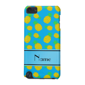 Personalized name sky blue yellow pineapples iPod touch 5G case