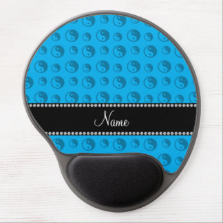 Personalized name sky blue ying yang pattern gel mouse pad