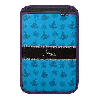 Personalized name sky blue yoga pattern MacBook sleeve