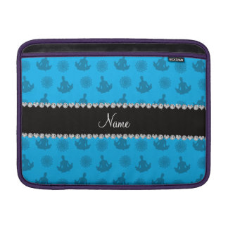 Personalized name sky blue yoga pattern sleeve for MacBook air
