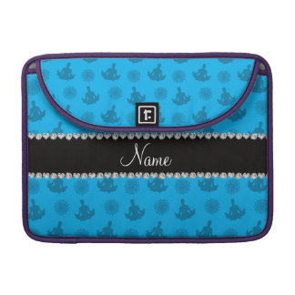 Personalized name sky blue yoga pattern sleeves for MacBooks