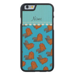 Carved ® iPhone 6 Bumper Wood Case with Yorkshire Terrier Phone Cases design