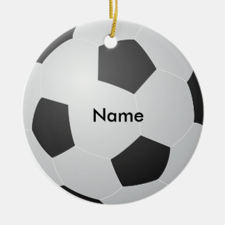 Personalized Name Soccer Christmas Ornament