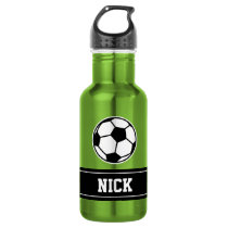 Personalized name soccer sports water bottle