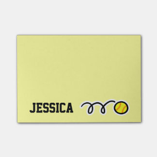 Personalized name softball Post-it® notes