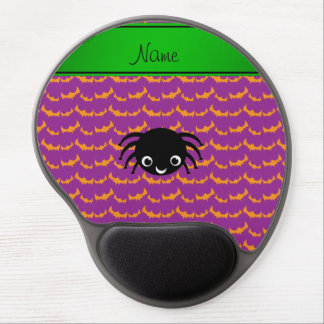 Personalized name spider orange purple bats gel mousepad