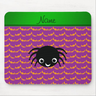 Personalized name spider orange purple bats mousepad