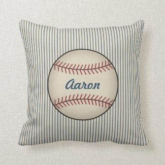 Personalized Name Sports Baseball Pillow Gift