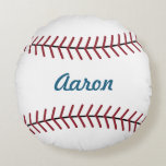 "Personalized Name Sports Kids Baseball Pillow<br><div class=""desc"">A traditional baseball decorates this fun pillow. Personalize this baseball pillow by changing the name. Use this baseball pillow in a boy&#39;s room,  nursery,  kid&#39;s room,  bedroom,  guest room,  etc... The design is from original art.</div>"