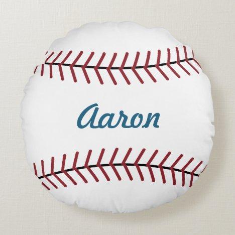 Personalized Name Sports Kids Baseball Pillow