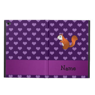 Personalized name squirrel purple hearts powis iPad air 2 case