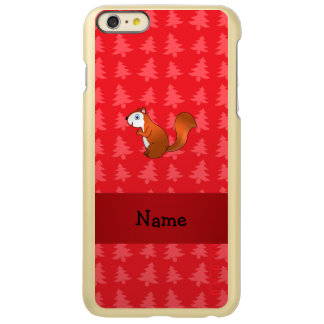 Personalized name squirrel red christmas trees incipio feather® shine iPhone 6 plus case