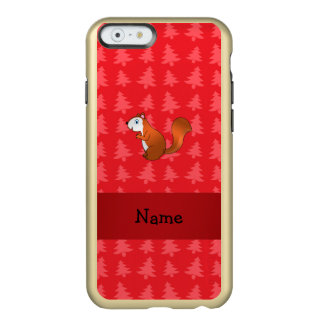 Personalized name squirrel red christmas trees incipio feather® shine iPhone 6 case