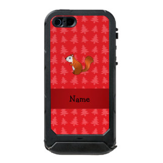 Personalized name squirrel red christmas trees incipio ATLAS ID™ iPhone 5 case