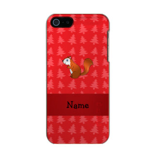 Personalized name squirrel red christmas trees incipio feather® shine iPhone 5 case