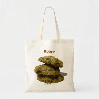 Personalized Name Stack of Cookies Cookie Lovers Tote Bag