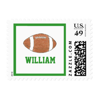 Personalized name stamp with football