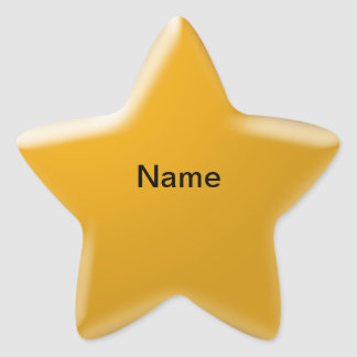 Personalized Name Star Sticker